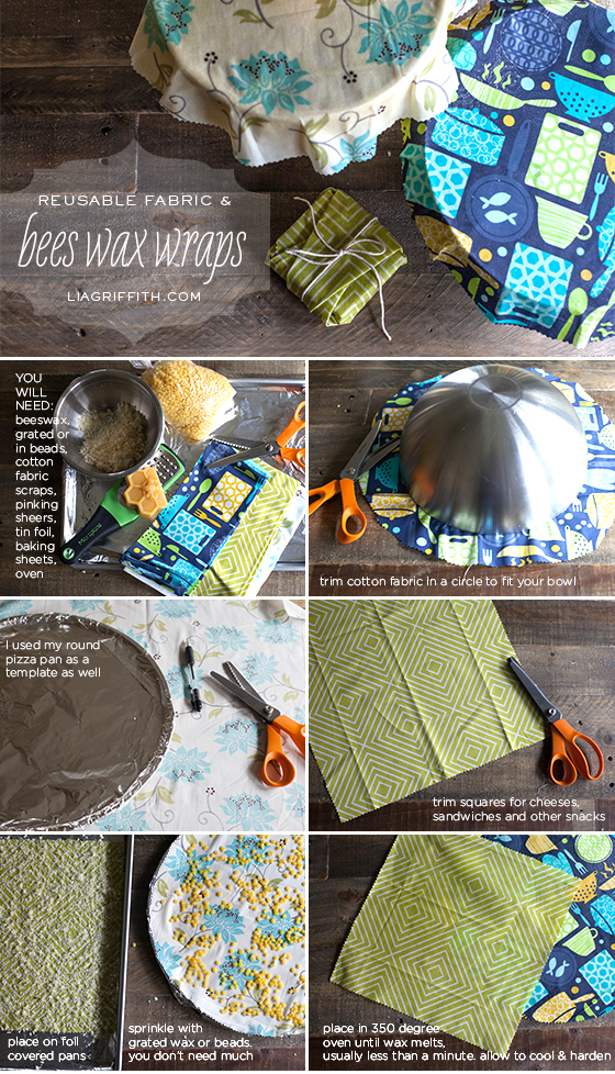 Beeswax Fabric Wraps Tutorial