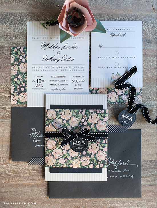DIY Vintage Wedding Invitation Set