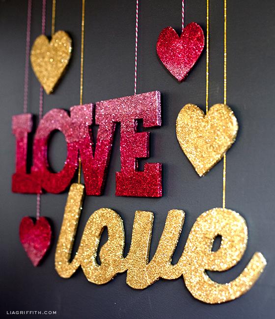 Glitter Love Banners
