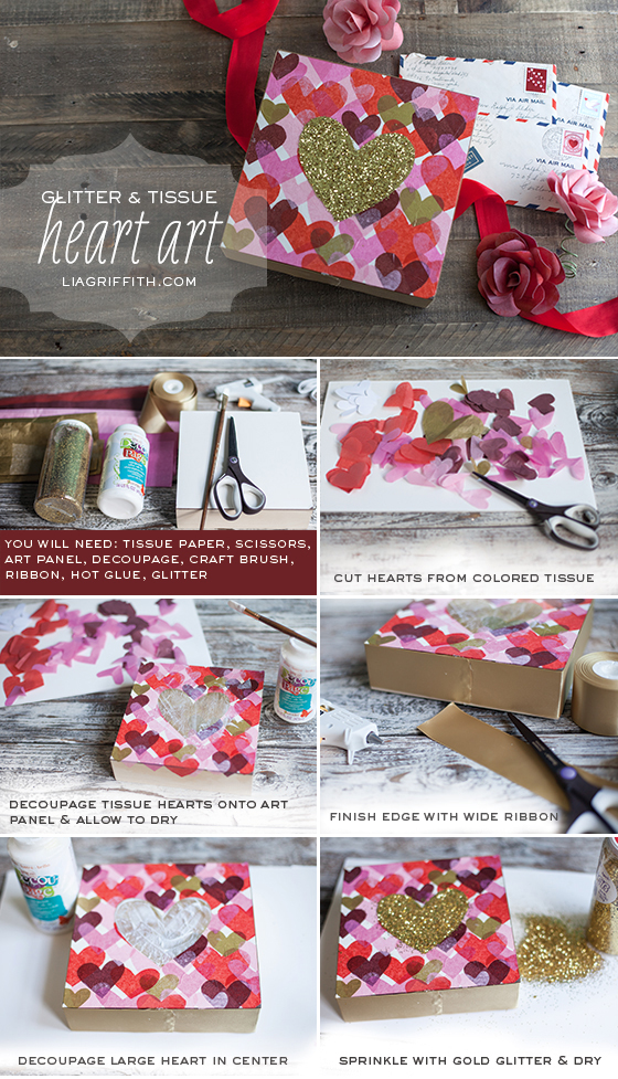 Glitter Heart Wall Art Tutorial