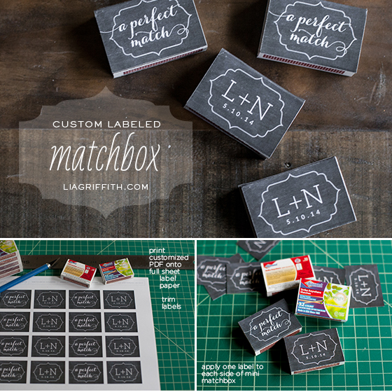 Matchbox Wedding Favor Tutorial