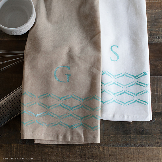 Monogrammed Kitchen Towels