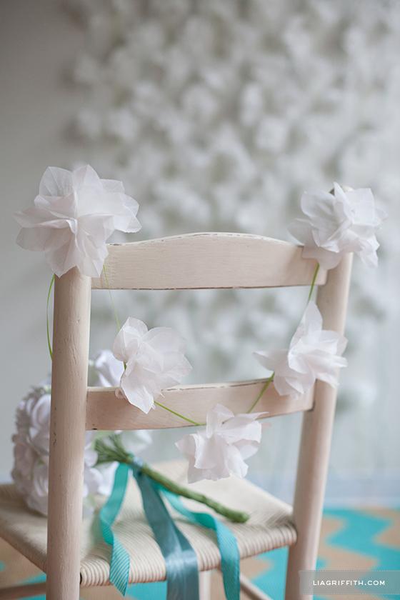 DIY Napkin Flower Decor