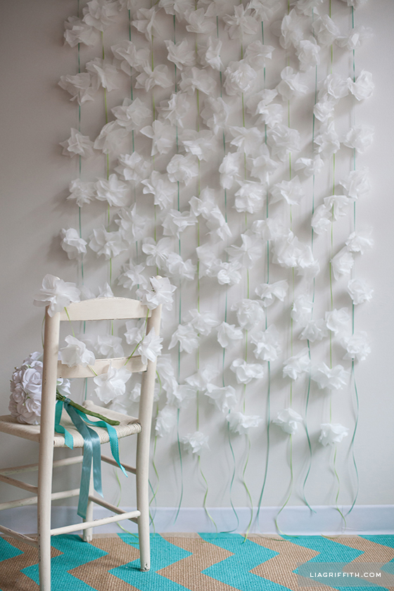 Napkin Flower Garland