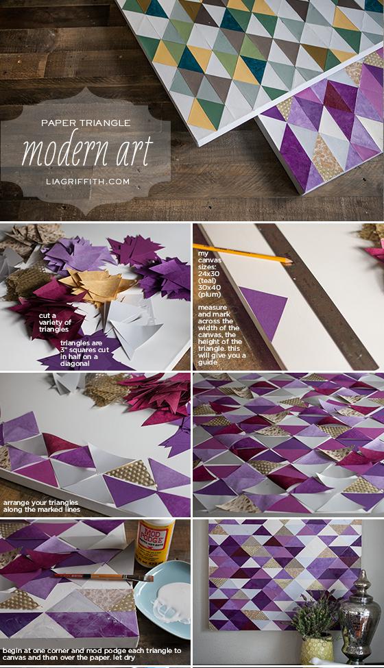 Paper Triangle Wall Art Tutorial