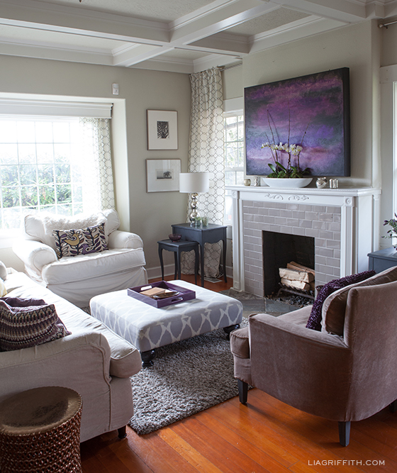 Plum Living Room by Lia Griffith
