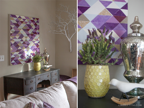 Plum Triangle Wall Art