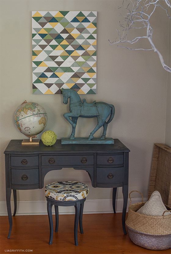 How to make triangle wall art