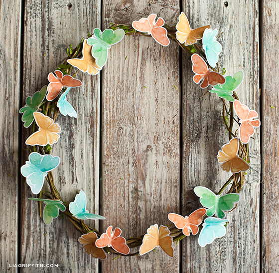 Butterfly Wreath for Spring