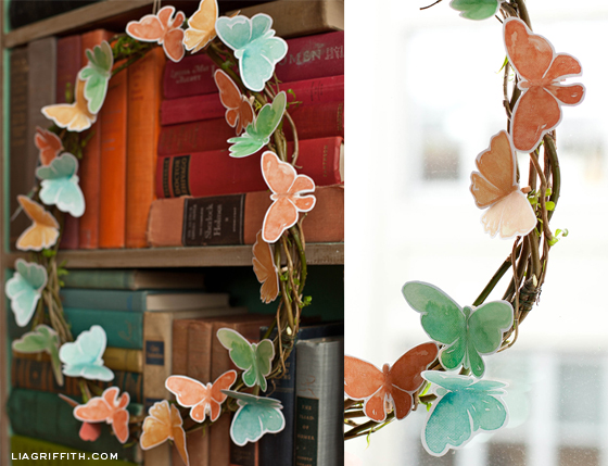 Butterfly Wreaths Made With Paper