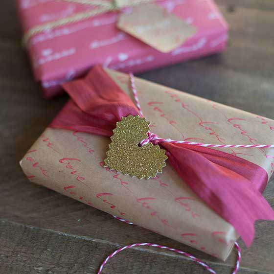 DIY Personalized Love Letter Gift Wrap