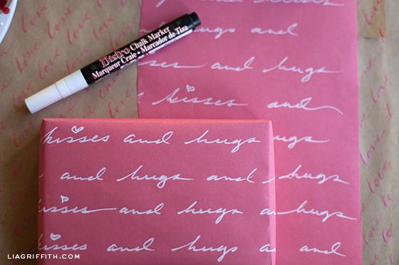 Chalk Marker Gift Wrap