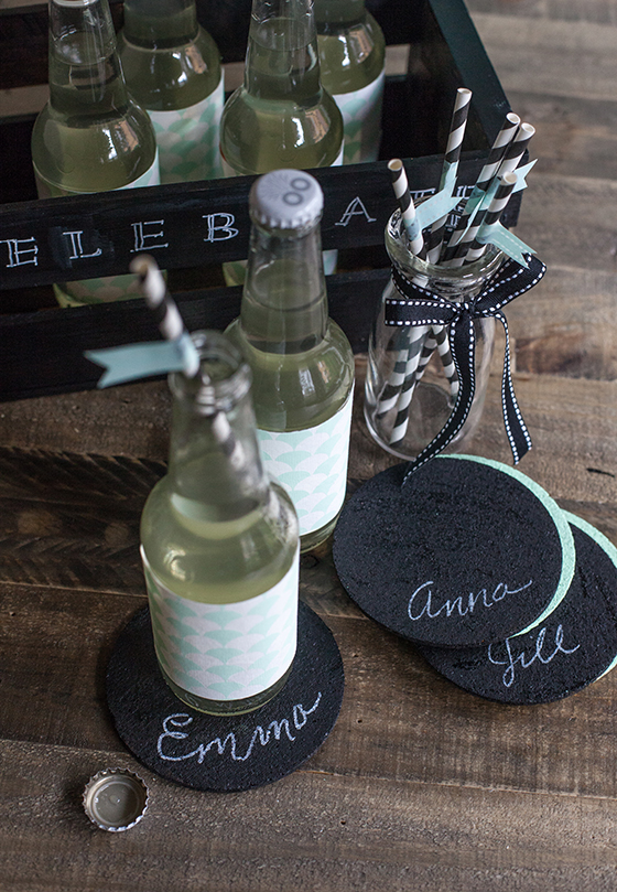 Personalized Chalkboard Coasters