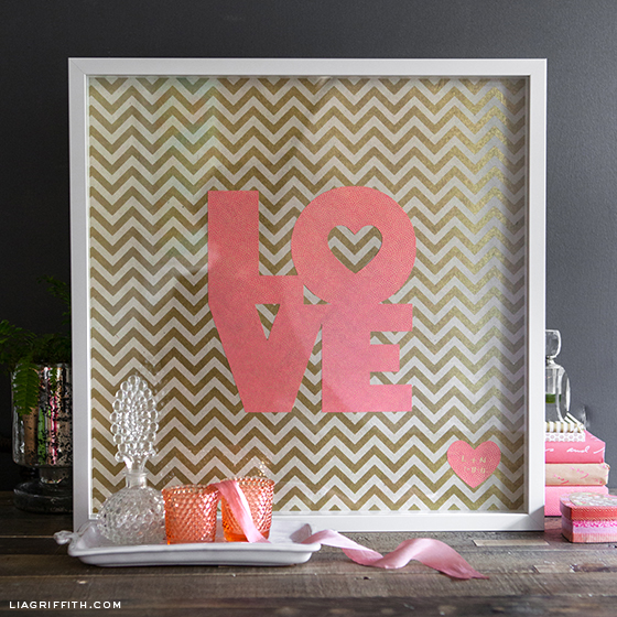 DIY framed love art