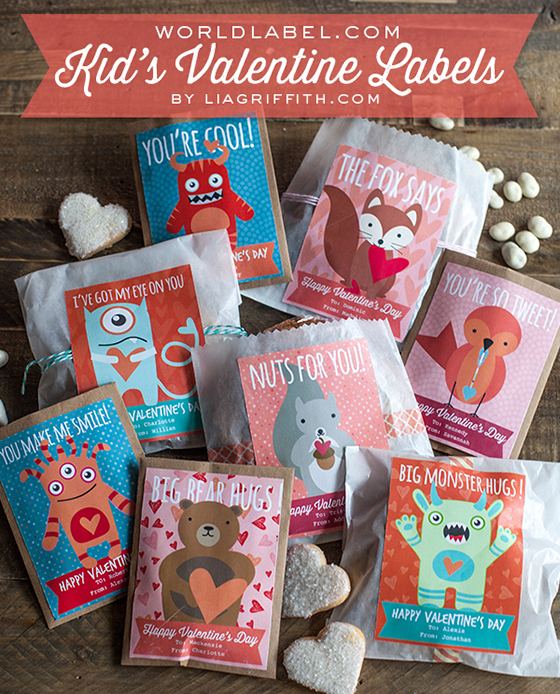 Printable Kid's Valentine Labels