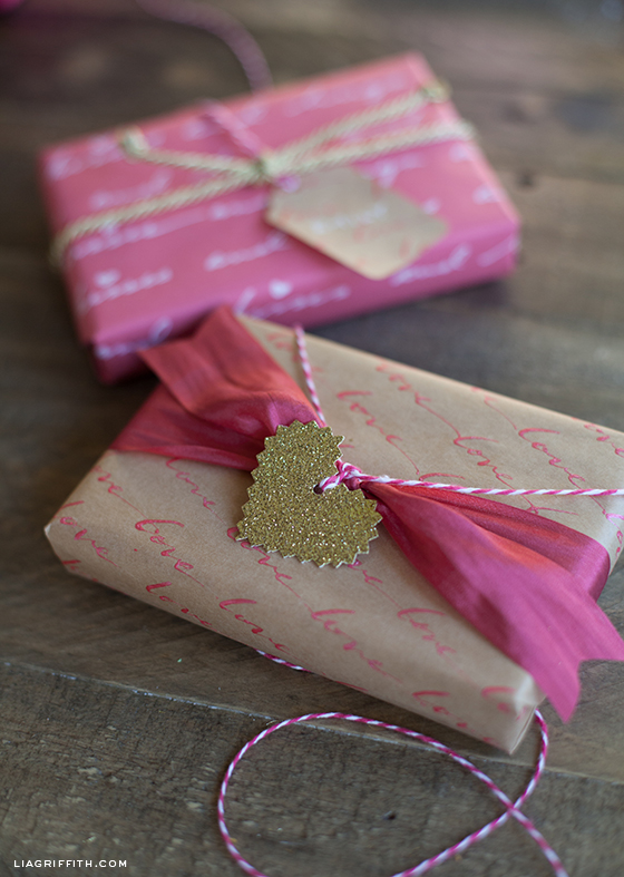 Love Calligraphy Gift Wrap Ideas