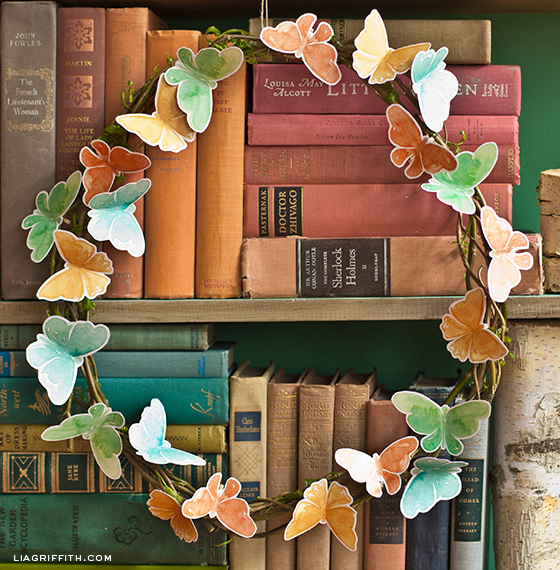 DIY Paper Butterfly Wreath