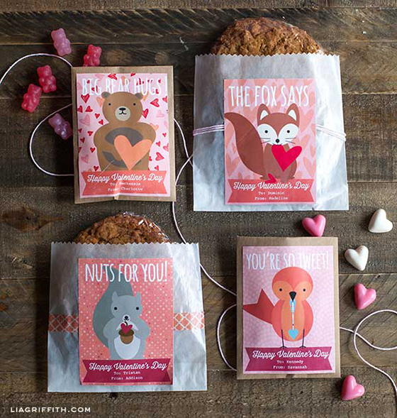 Sweet Woodland Valentine Labels