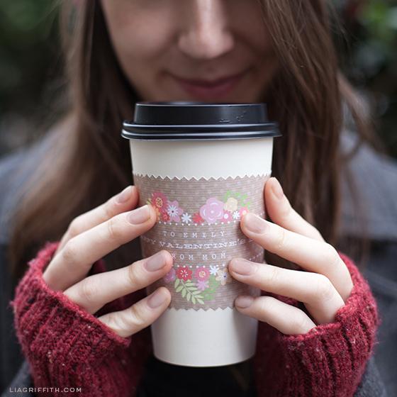 Valentine Coffee Wrap Printable