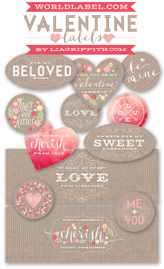 Valentine Labels Free Printable