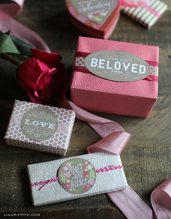 Vintage Valentines Day Labels