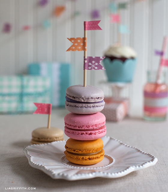 Washi Tape Cookie Flags