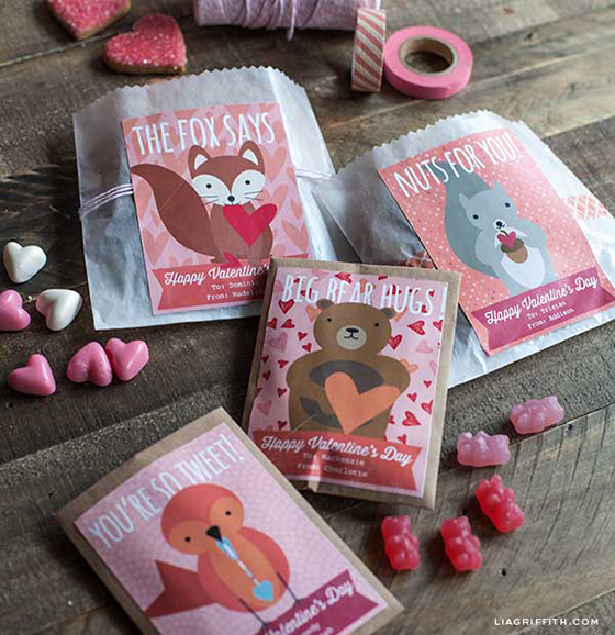 Woodland Valentine Labels