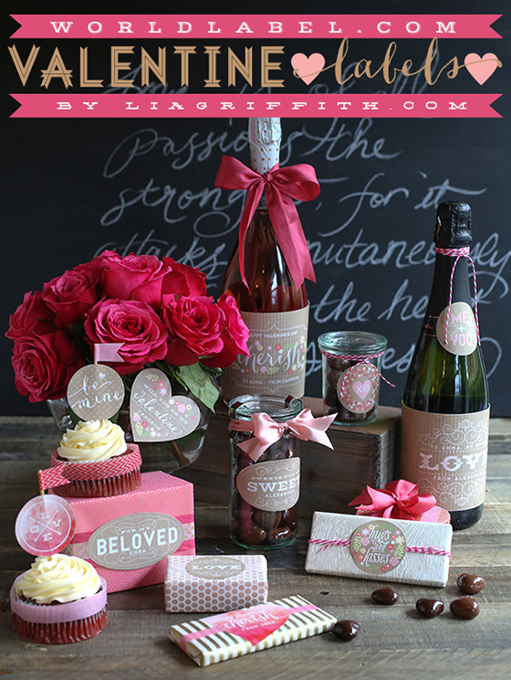 Sweet Vintage Valentine Label Printables