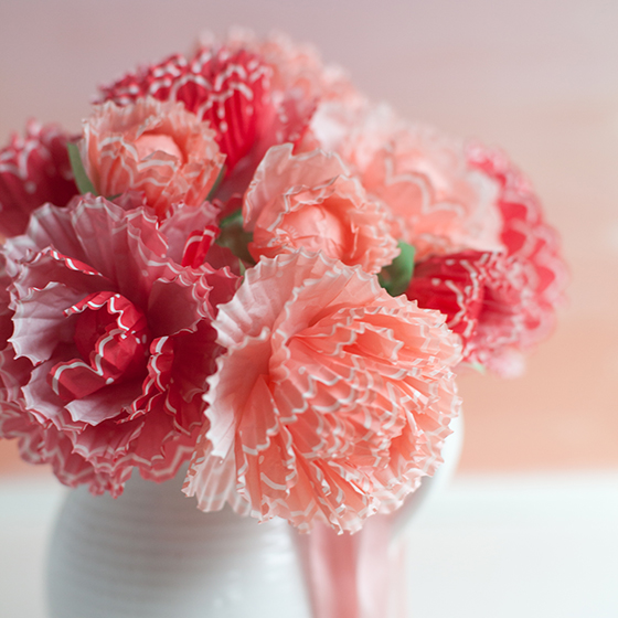 Paper Peonies from Cupcake Wraps