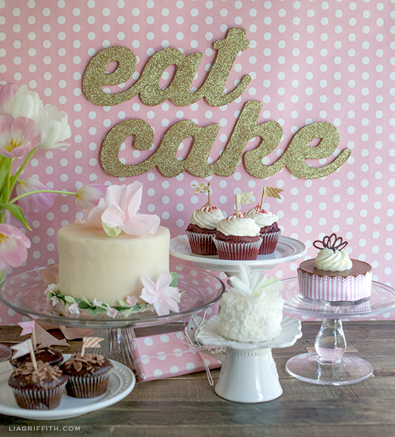 DIY Eat Cake Sign