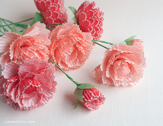 Make Peonies From Cupcake Wraps