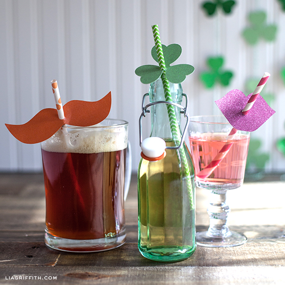 St. Patricks Day Straw Decor