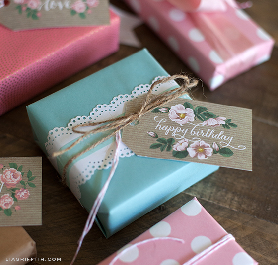 Sweet Rose Gift Tag Printable