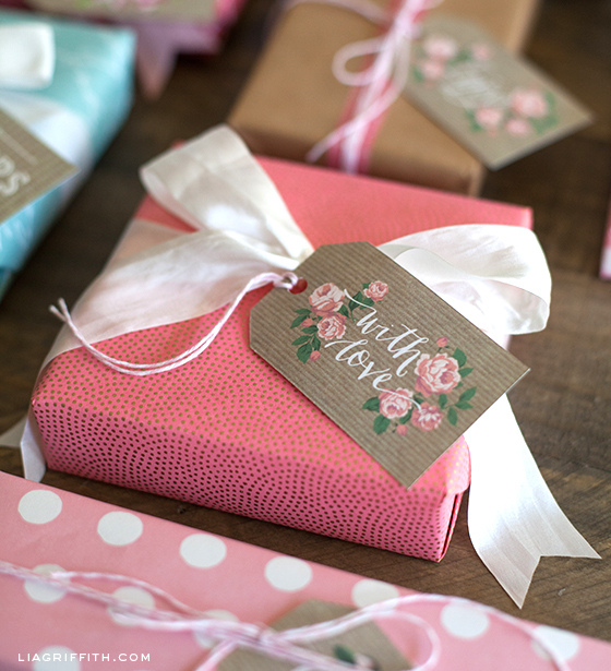With Love Kraft Gift Tag Printable