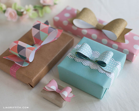 Paper Bow Templates In Four Sizes