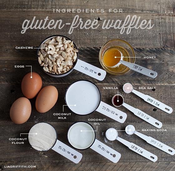 Gluten free waffles ingredient