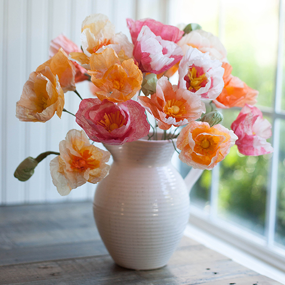 Make These Gorgeous Tissue Paper Poppies