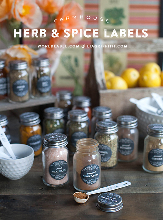 photo about Printable Spice Labels known as Printable Herb and Spice Jar Labels