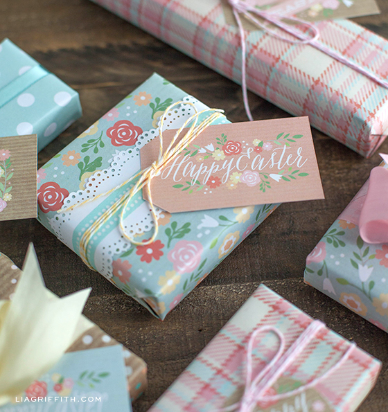 Printable easter gift tags and gift wrap easter tags printable negle