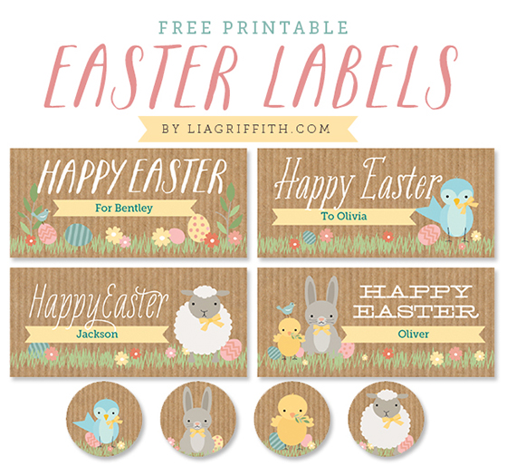 printable Easter labels