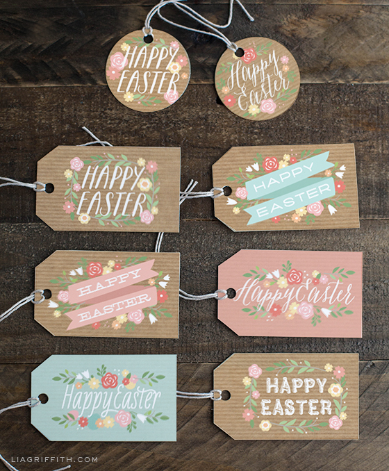 printable easter gift tags and gift wrap from lia griffith