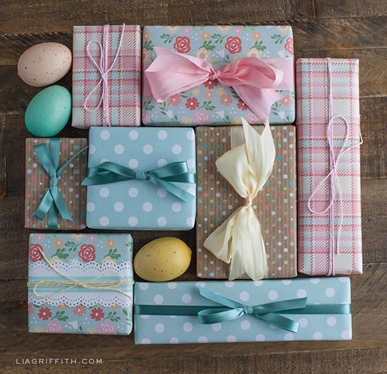 Printable easter gift tags and gift wrap printable easter gift wrap negle