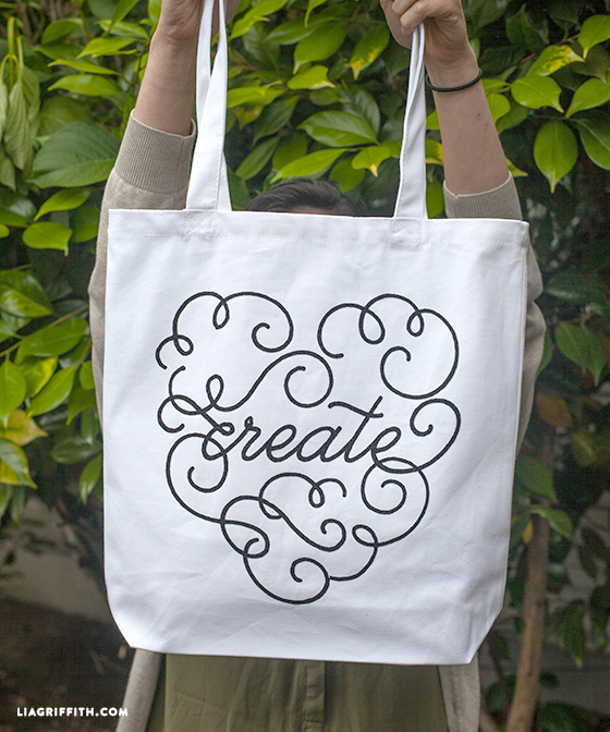Tote bag iron on to DIY