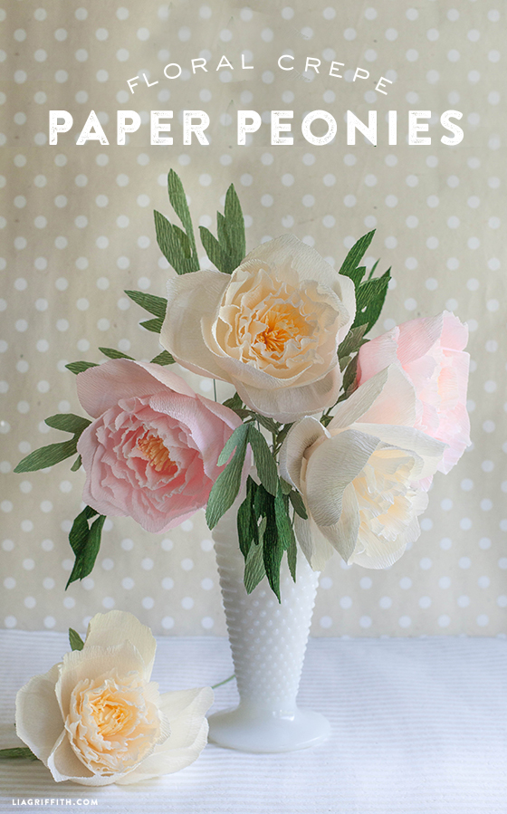 Diy crepe paper peonies in cream blush colors lia griffith diy crepe paper peonies mightylinksfo