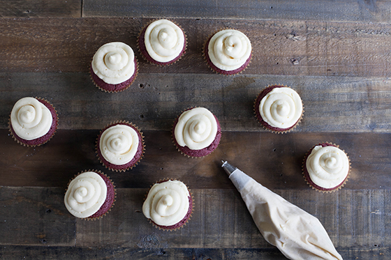 gluten-free red velvet cupcakes with cream cheese frosting