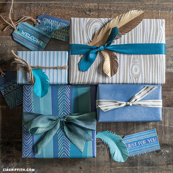 Printable gift wrap for men perfect for father's day