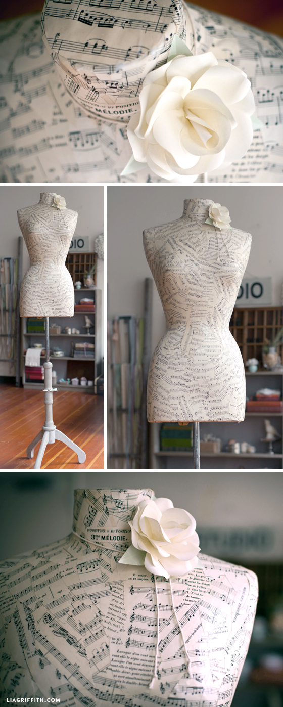 Refinish a Mannequin with Sheet Music