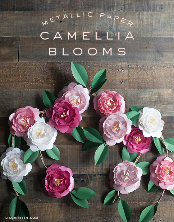 Diy metallic paper camellias mightylinksfo
