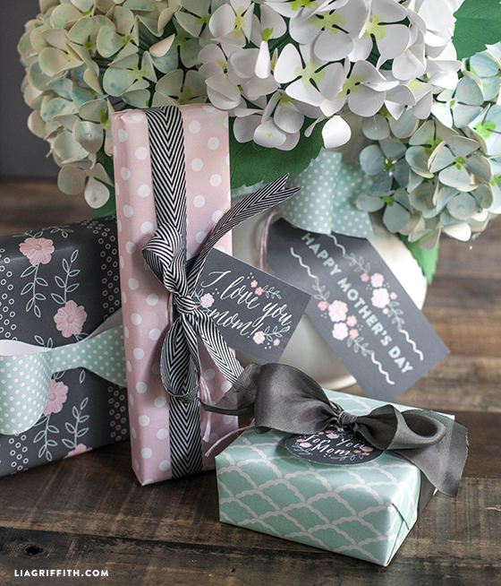 Mother's Day Gift Tags and Wrap Inspiration