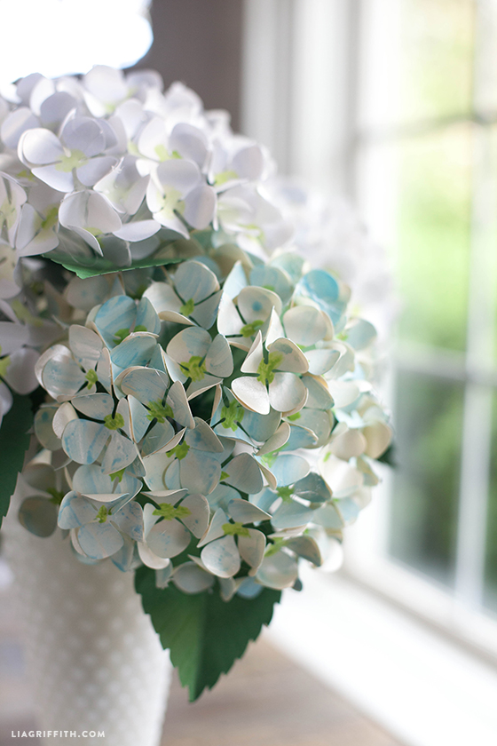 Painted Paper Hydrangea Tutorial